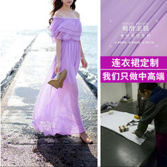 Guangdong panyu nancun garment factory dress processing women`s wear small batch to figure processin purple xs