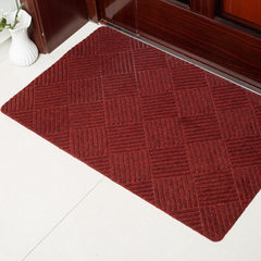 The floor mat at the door of the kitchen bedroom of the living room and kitchen is patterned with an Wine red 50 * 80