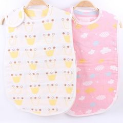 Children`s gauze sleeping bag wholesale summer thin three layer gauze printing children`s sleeping b Color patterns are random 60 * 40