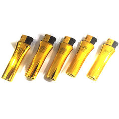 Developed 117 (gold vacuum coating) gold anti - wind lighter plastic lighter personality lighter The picture color Consulting service