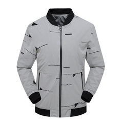 New spring and autumn 2018 men`s jacket south Korean version of the trend handsome casual jacket men gray l