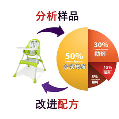 Children`s dining chair formula multi-functional folding portable toughening agent strong waterproof white