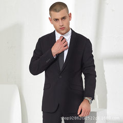 Huapai hualong summer new suit suit for men without ironing slim suit for men business suit wedding  black 42 send shirt