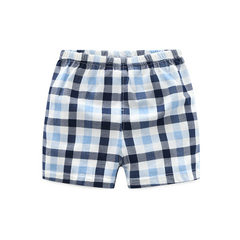 2018 new summer cotton baby underwear thin men and women children`s printed shorts foundling baby pa 5011 grid - blue 80 cm