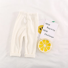 Spring and summer style Korean version of boys and girls leggings a substitute hair pure color baby  white 80 cm