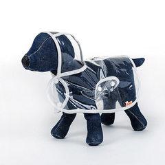 Transparent waterproof raincoat dog clothes dog clothes dog clothes dog raincoat hat teddy snow nari A transparent white raincoat S - bust 35 to 38 cm