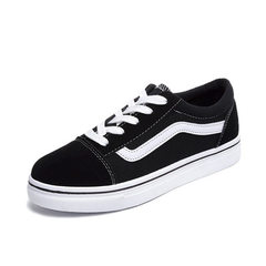 In spring, the new style of canvas shoes for female students ins is super popular black 36