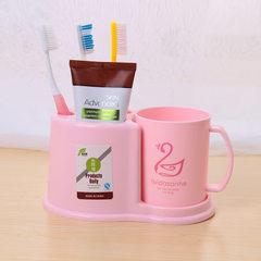 牙刷架洗漱套装 塑料牙刷架带漱口杯 刷牙杯子置物架厂家批发0006 混色 19.5*8.2*10.7