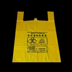 黄色医疗垃圾袋批发医院塑料背心垃圾袋厂家直销可定制大号垃圾袋 黄色