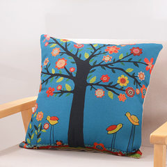 The impression household cotton and hemp holds pillow to contain core contracted square mat car sofa Crane`s home 45 * 45 cm