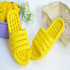 Bathroom slipper anti-skid bath water leakage indoor men and women plastic household lovers cool sli yellow 38