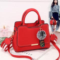 Handbag bag woman 2018 new fashion trend PU women bag a hair generation lady`s shoulder oblique satc gray