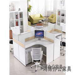 Office desk and chair combination 4 people simple modern computer desk clerk desk staff desk staff t One hundred kinds of optional 1200 * 1400