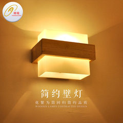 Manufacturer direct selling bedroom head led solid wood wall lamp living room balcony creative simpl E27 * 1