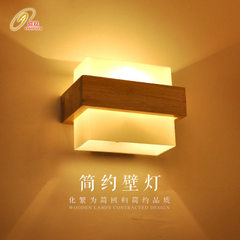 Led solid wood modern wall lamp bedroom bedside living room wall lamp balcony aisle creative simple  E27 * 1