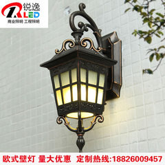 Outdoor wall lamp simple modern new Chinese waterproof exterior courtyard lamp American creative hal 9 w.