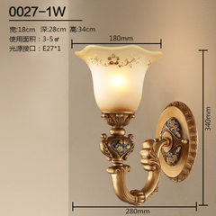 European-style retro wall lamp bedroom mirror front contracted wall lamp living room corridor stair  More than 5 w and