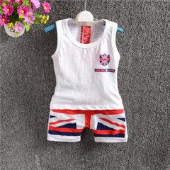 Children`s suit manufacturers direct summer boys bamboo cotton vest shorts set The union flag 75 cm to 105 cm / 1 hand 4 yards