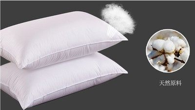 Factory direct sale 5 star hotel feather velvet full cotton pillow pillow contest feather pillow pil Double needle edge feather velvet pillow white one 45 * 75
