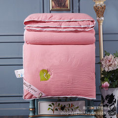 Mercury home textile full cotton silk by mulberry silk winter by thickening warm bedding wholesale pink The total weight of 220x240cm is 6kg