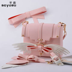 2018 new style women`s single shoulder bag Korean version of fashionable pure color women`s bag bowk Red and purple with white single shoulder (small)