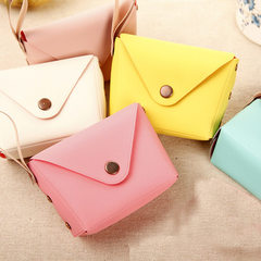 Hot style Korean version of cute candy color coin purse pocket key bag creative makalon hand bag white