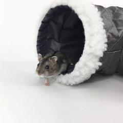 New hamster litter hamster hedgehog single channel sugar sack colugos tunnel grey soiled sleeping ba gray
