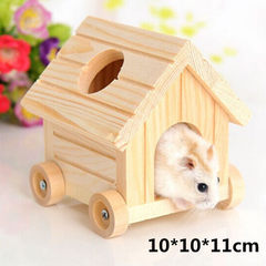 Small house hamster villa wooden house pet nest luxurious wooden toy hamster pet cage See the description