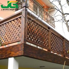 The factory sells antiseptic wooden fence balcony fence carbonized wood park fence wood fence can be 100 * 100