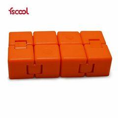 益智减压魔方 无限翻转块变形 儿童硅胶减压玩具 折叠魔方批发 黑
