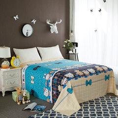 厂家直销 长绒棉植物羊绒活性印花床单单件床上用品批发 一件代发 200*230cm