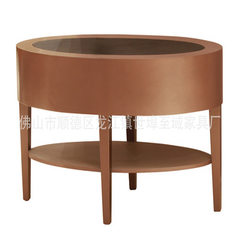 Hotel furniture manufacturers coffee shop solid wood leisure tea table customized hardware American  Can be customized in any size