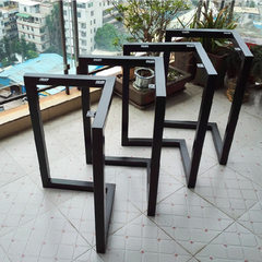 Metal furniture custom fashion stainless steel furniture custom-made table feet customized stainless red