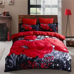 wish亚马逊ebay爆款3d大板玫瑰套件厂家直销床上用品3件套 被套200*230cm    枕套45*75cm