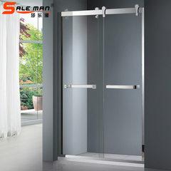 简易一字形淋浴房新款淋浴房 不锈钢长方形淋浴房 整体淋浴房 SM-8010