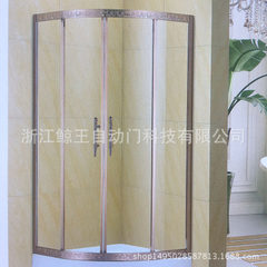 Manufacturer`s production wholesale copper all steel interlayer explosion-proof glass simple shower  1000 * 1000 * 1950