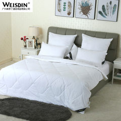 Manufacturer direct selling hotel pure color quilt double fiber summer bedding cotton air conditioni white 220 * 230 cm