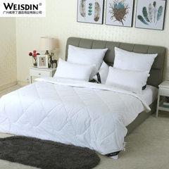 厂家直销 宾馆酒店纯色被子双人纤维被 夏季床上用品全棉空调被 白色 220*230cm