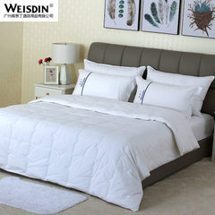 Factory direct sale hotel bedding air conditioning by core white double cotton feather duvet white 220 * 230 cm