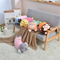 Manufacturer`s direct selling cartoon pillow style pillow with multi-functional fleece pillow cover  Lie prone on the dog 52 * 18 cm