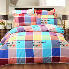 Bedclothes grinding twill cartoon warm four - piece quilt cover bedspread manufacturers for home tex Quilt cover: 200*230 sheets: 230*230 pillowcases 47*74*2