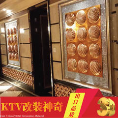 Foshan factory TV background wall ABS plating honeycomb disc 3D bar wallpaper KTV decorative materia Honeycomb disk