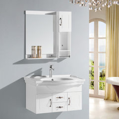 Factory direct selling 80 cm european-style bathroom cabinet combination PVC bathroom cabinet bathro 822 (80 cm)