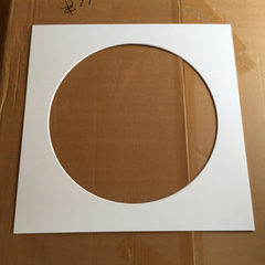Round white picture frame card paper low price processing customized circular picture frame card pap custom