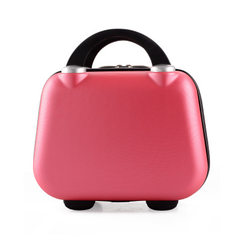 Make-up bag cute hand - held Korean style ABS mother box a replacement PC travel bag hard bag for wo black 13
