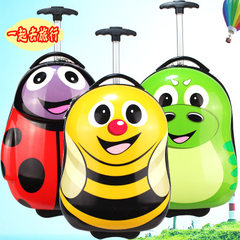 New type of children`s pull rod box cartoon animal pull rod box cartoon suitcase children pull rod b 16 inches of bees 16 inches