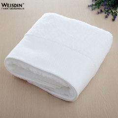 New product hotel pure cotton white towel towel towel towel enlarging and thickening clubhouse cotto white Bath towel, 70 * 70 cm