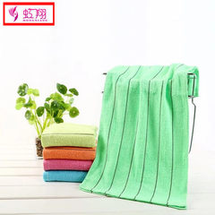 Direct selling plain color 50g black stripe towel hotel bathing hotel clean face pure cotton towel d Light yellow 50 g 66 * 31 cm
