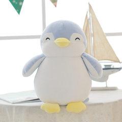 可兰薇羽绒棉可爱软萌企鹅海豚玩具鲨鱼公仔送小孩朋友女友礼物 35cm企鹅