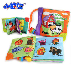 Small super xia - large cloth book baby cloth book baby palm book early education sound paper BB gum 3947 - cow